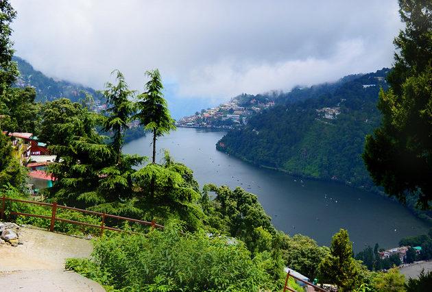 view of naini lake while exploring nainital