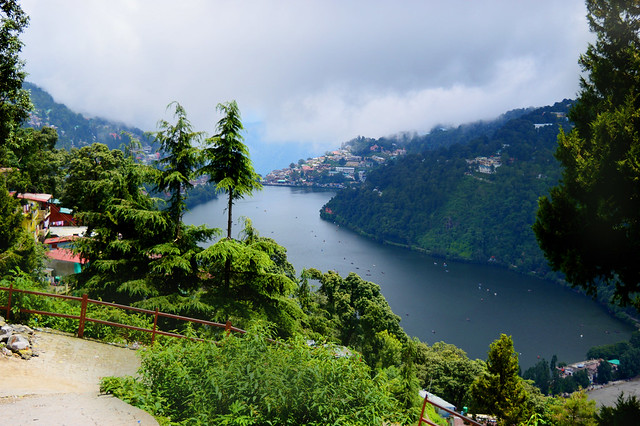 view of naini lake while exploring nainital