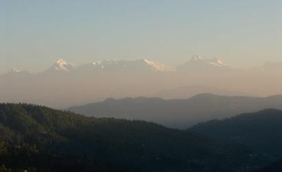 View of Himalayas from Mukteshwar